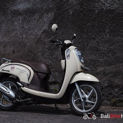 Cream Honda Scoopy - the best choice for stylish rides in Bali