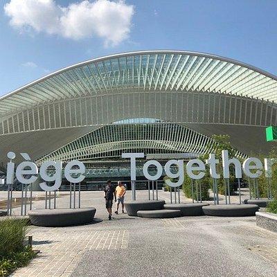 The modern railway station of Liege