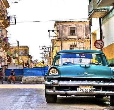 The streets of Central Havana, Cuba
