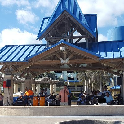 The Beachcombers Hollywood Florida Are A band that play at Charnow Park Tuesday-Thursday 11:30am-3pm for the City of Hollywood.   https://www.facebook.com/TheBeachcombersHollywoodFlorida/