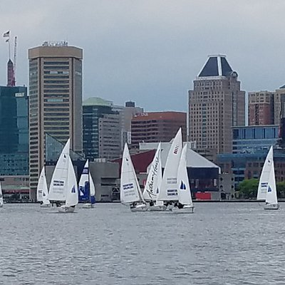 There are awesome views of the city from Baltimore harbor!