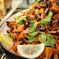 Black Rice, Carrot and Apple Salad