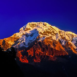 Annapurna Mountain view from along the Annapurna Base Camp Trek