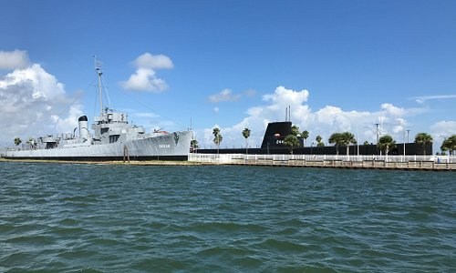 Galveston Naval Museum from the Galveston Ship Channel