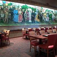 Mural on wall in dining area