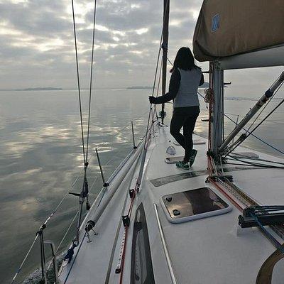 Malgré l'absence de vent, la journée sur l'eau fut parfaite.