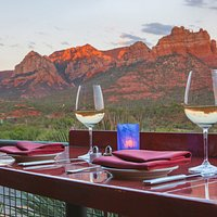 Amazing view from the patio at Sound Bites Grill, Sedona.