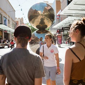 Let's meet at the Mall's Balls! We meet here for our tips-based walking tour every day except Wednesday at 10:30am, and Wednesdays at 2:30pm.