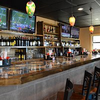 Our bar and TVs, come join us for some drink and some fun