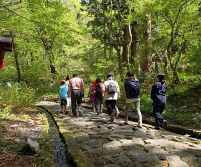 大神山神社奥宮へとつづく日本一長い自然石の石畳の参道