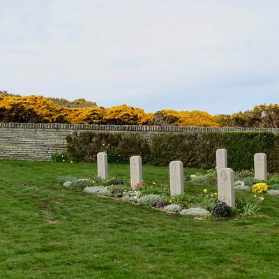 One side of the cemetery.