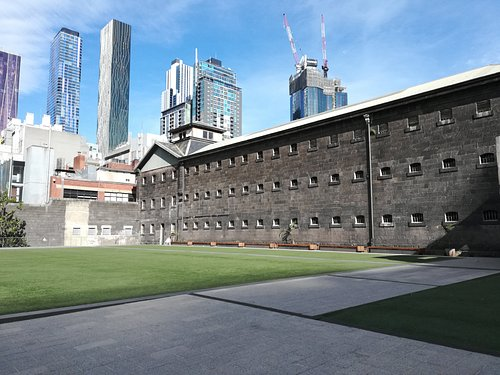 Exterior shot showing the courtyard.