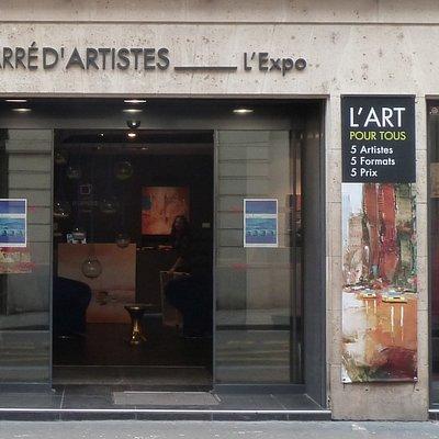 Devanture galerie Paris l'Expo Carré d'Artistes