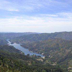 View over Caniçada Lake, one of the landmarks of the National Park.