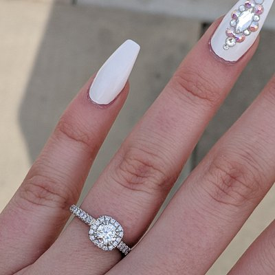 INCREDIBLE! The most beautiful ring I could hope to wear for the rest of my life. Chris is amazing! Cant wait to add the wedding ring!