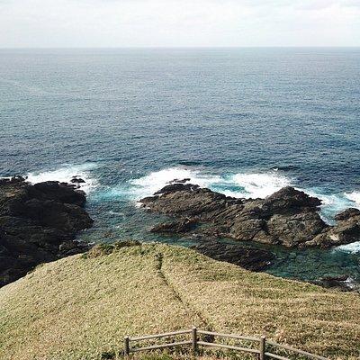 宮古崎突端より東シナ海を望む