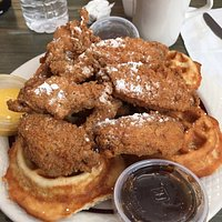 Awesome chicken and waffles