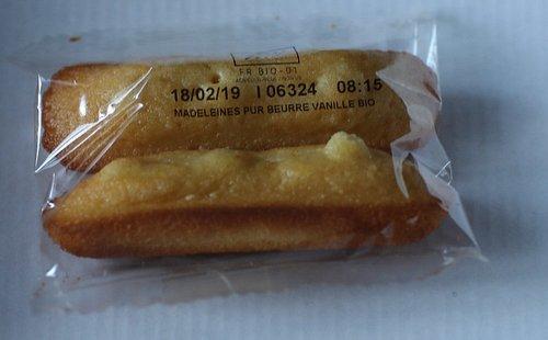 Madeleine pur beurre à la vanille Bio