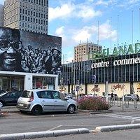 Fresque «Aimé Césaire», à quelques pas du Centre Commercial «Les Flanades» à Sarcelles