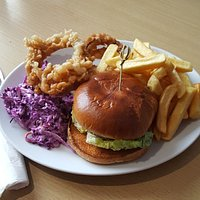 Falafel & Spinach Burger