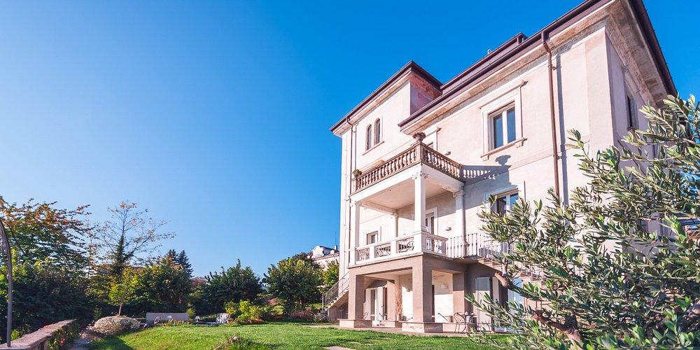 The facade of the villa