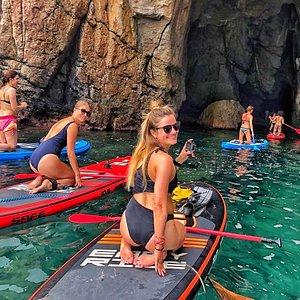 Escursione in SUP alla grotta di Santa Lucia