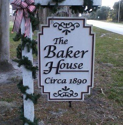 Baker House sign