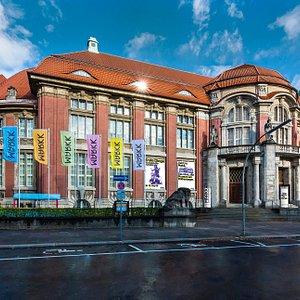 Außenansicht des Museums am Rothenbaum. Ein Bau des Spätjugendstils von 1912.