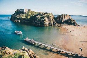 Der Küstenort Tenby in Pembrokeshire