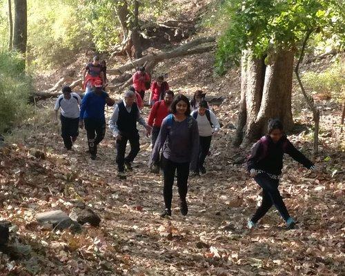 Trekkers during the climb