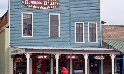 Gunnison Gallery features an amazing art collection of 60 Local and Colorado Artists ranging from ceramics, jewelry, bronze sculpture, oil paintings and so much more.  Must visit this beautiful gallery!