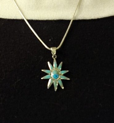Turquoise necklace from Coyote Jane's