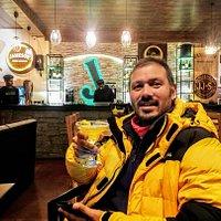 Ardent Trekker and Mountain Expert Mr. Ravi Thakur. Enjoying Peach Margarita!!!