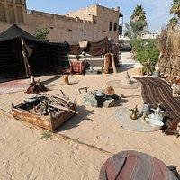Beduinenzelt vor dem Lokal