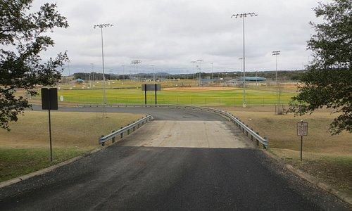 Many baseball diamonds. Northrop Park, Boerne, TX