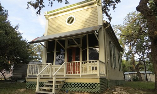 1891 Henry J Graham building next to Kuhlmann-King Historical House, Boerne, TX