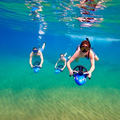 Our sea scooter snorkeling tour is for everyone. Families with kids love it and this adventure is very rewarding.