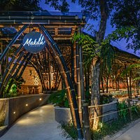 A Giant Nest of Black Bamboo Building, Makan Place, Bali