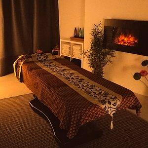 Cozy massage room