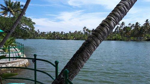 Veiw from front of Pranavam resort Monroe island fab