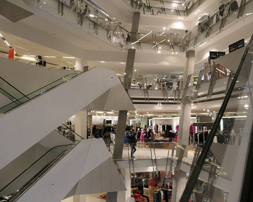 Looking at the floors from an escalator #1
