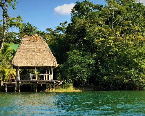 There more stilt houses on the water