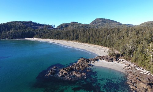 Beautiful Grant Bay, a great day trip from Bear Cove Cottages!