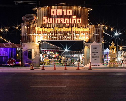 Vintage Night Market Phuket - Just look for the arches and palm trees of light.