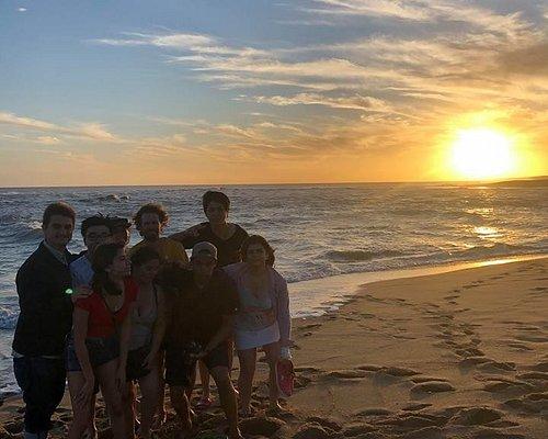 watching the sunset at the laguna de Rocha!