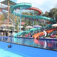 Watersliding pool