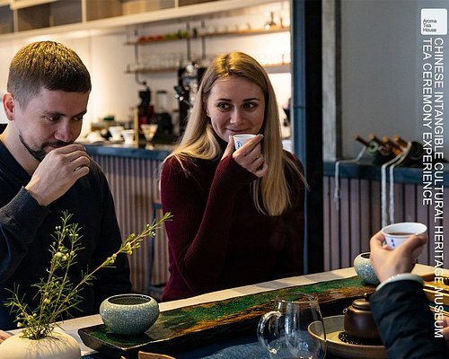 tea tasting in our museum