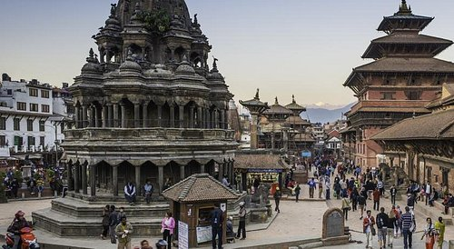 The Krishna temple on the west side of Patan's Darbar square was built in 1637. Legend says that it was built because of a dream. One night, King Siddhi Narasigh Malla dreamt that the gods Krishna and Radha were standing in front of the palace. The King ordered a temple built on the same spot. During a war with a neighboring kingdom a decade later, the King emerged victorious after calling on Krishna to vanquish his enemies. In gratitude, the King built a replica of the temple inside the Sundari