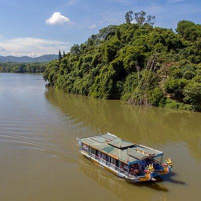 Royal Dragon Boat on the Perfume River.