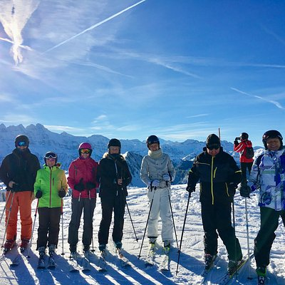 With Chatel ESF- our group